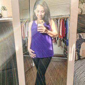 Maeve Purple Chiffon Sleeveless Top Size 6